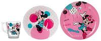 Набор для детей Luminarc Disney Party Minnie 3 предмета ударопрочное стекло (5279N)