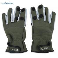 TSURINOYA Парные теплые водостойкие перчатки полных пальцев для наружной рыбалки XL