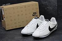 Кроссовки мужские  Nike Cortez белые с черным ( подростковые и взрослые размеры)