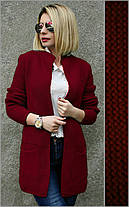 Кардиган женский вязанный, размеры 44-48, фото 2