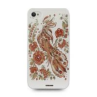 Чехол накладка для iPhone 4 Жар птица