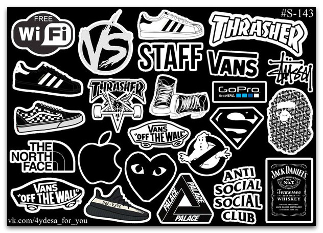 Stickers Pack Логотипы #143