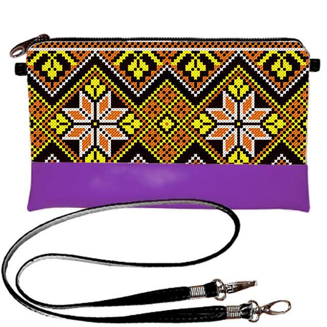 c072cb1b8432 Фиолетовый женский клатч в модный орнамент: продажа, цена в ...