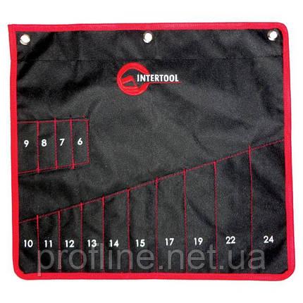 Чехол для гаечных ключей 14 карманов 430ммx430мм INTERTOOL BX-9009, фото 2