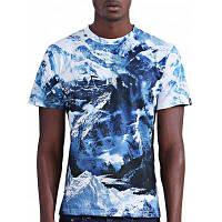 Абстрактные 3D Айсберг печати вокруг шеи короткими рукавами футболки для мужчин S