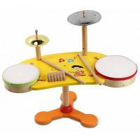 Youlebi деревянный музыкальный Джаз барабан образовательные игрушки для детей Красочный