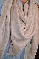 Платок с люрексом в стиле Louis Vuitton Monogram (Луи Витон) пудра