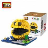 LOZ 380шт. XL-9617 пиксельные войны Пакман строительный блок игрушка для улучшения способности к социальному сотрудничеству Красочный