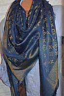 Платок с люрексом в стиле Louis Vuitton Monogram (Луи Витон) джинс