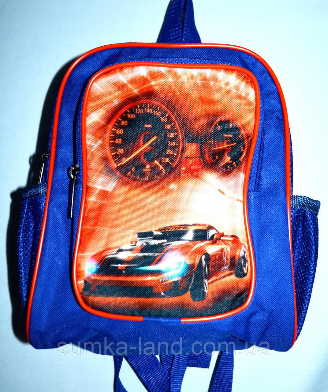 a1bc3a9ee35c Детский школьный рюкзак для мальчиков Машина 22*27 синий с красным -  SUMKA-LAND