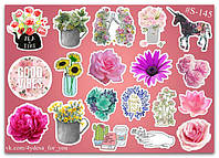 Stickers Pack Flowers, Цветы #145, фото 1