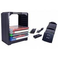 Двойной зарядное устройство CD хранения Башня держатель для одной игры для ps4 и Xbox Чёрный