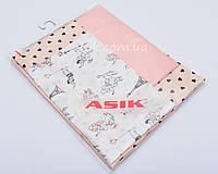 Сменная детская постель Asik Париж цвет пудры 3 предмета (3-241)