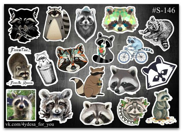 Stickers Pack Енотики #146