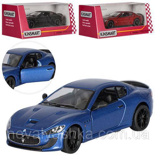 Kinsmart металлическая инерционная машинка Maserati GranTurismo MC Stradale Кинсмарт KT5395W 000640
