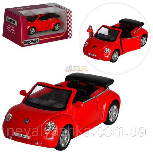Kinsmart металлическая инерционная машинка Volkswagen New Beetle Convertible Кинсмарт  KT5073W 001187