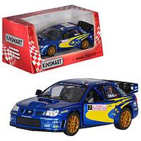 Kinsmart металлическая инерционная машинка SUBARU IMPREZA WRC Кинсмарт KT5328W 001174