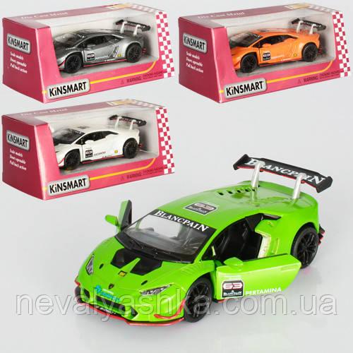 Kinsmart металлическая инерционная машинка Lamborghini Huracan Super Trofeo Кинсмарт KT5389W 000652