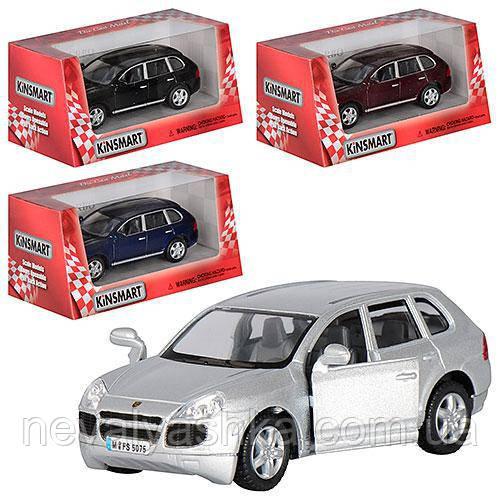 Kinsmart металлическая инерционная машинка Porsche Cayenne Turbo Кинсмарт KT5075W 000643