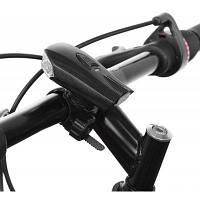 Велосипед USB зарядка Смарт-датчик удара передний Светильник Чёрный
