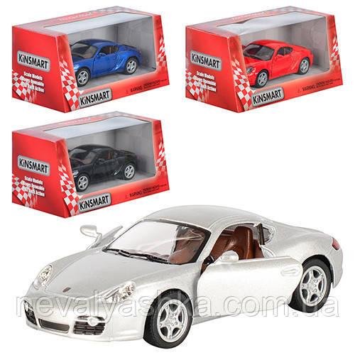 Kinsmart металлическая инерционная машинка Porsche Cayman S Кинсмарт KT5307W 002970