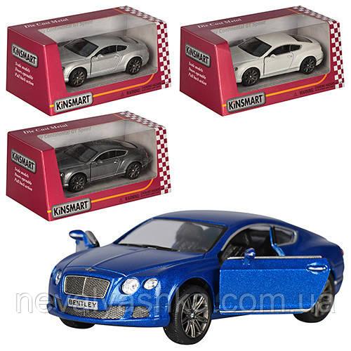 Kinsmart металлическая инерционная машинка Bentley Continental GT Speed Кинсмарт KT5369W 002038