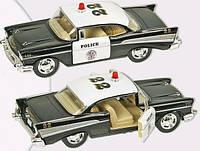 Kinsmart металлическая инерционная машинка CHEVROLET BEL AIR POLICE 1957 Кинсмарт KT5323W 000649