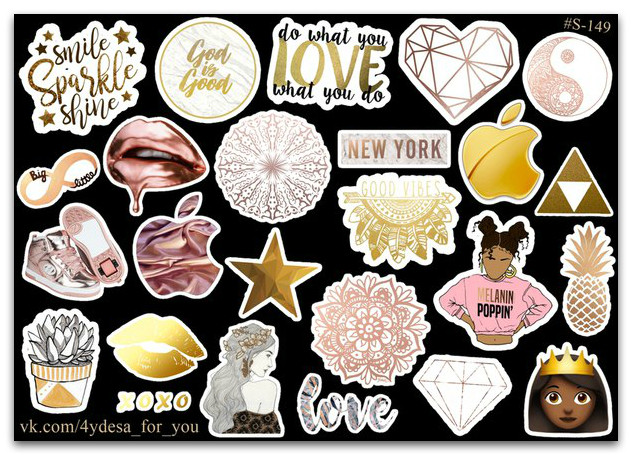 Stickers Pack Golden #149