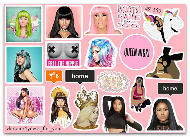 Stickers Pack Nicki Minaj #150
