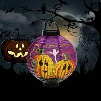 BRELONG LED Хэллоуин бумажный фонарь ААА батарейках Ведьма