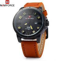 NAVIFORCE NF9061M Мужские кварцевые наручные часы Коричневый