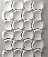 """Пластикова форма для 3d панелей """"Клин"""" 25*17 x4 (форма для 3д панелей з абс пластика)"""