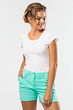 Мятные женские шорты с карманами