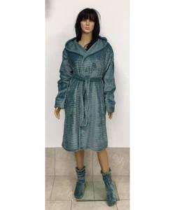 Женский махровый халат под пояс с капюшоном 44-52 р, женские халаты оптом от производителя