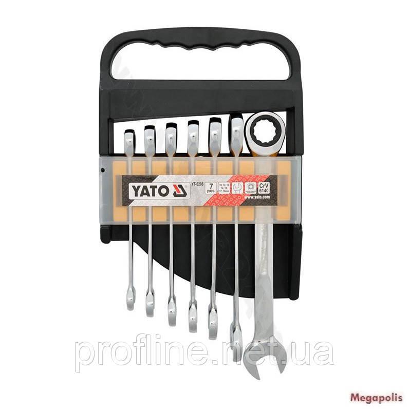 Набор ключей с трещоткой 7 ед Yato YT-0208