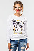 Свитшот женский белый Glorious