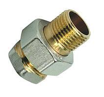 Американка латунная 1 прямая valve