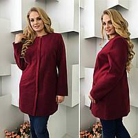 Пальто женское арт. 739/2 марсала / вишня / бордовый