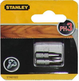 Биты Stanley Ph3 25мм, 2шт
