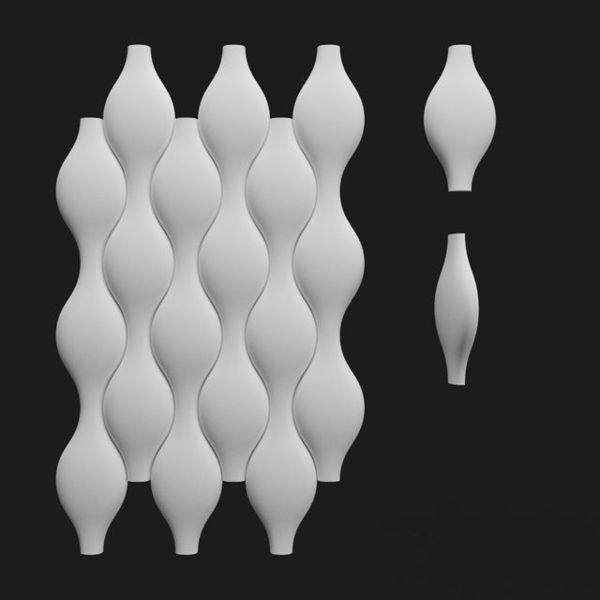 "Пластиковая форма для 3d панелей ""Кега"" 28*14 x4 (форма для 3д панелей из абс пластика)"