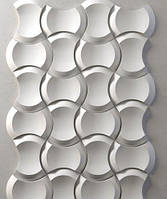 "Пластиковая форма для 3d панелей ""Клин"" 25*17 x4 (форма для 3д панелей из абс пластика)"