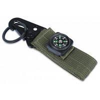 Карабин с висячей пряжкой с ремнем для пояса Зеленый армейский