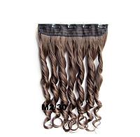 Накладная прядь на 5-ти клипсах-заколках, наращивание волос, волнистые длинные волосы, шиньон, цвет - №М2\30