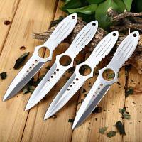 4шт 4Cr13Mov Стальной нож с сумкой хранения и стационарным лезвием из нержавеющей стали Серебристый
