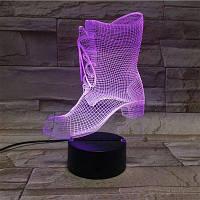 3D иллюзия женская обувь Цвет градиента трогательный ночник Разноцветный