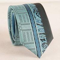 Жаккардовый галстук шириной 6см Оживлённый цвет