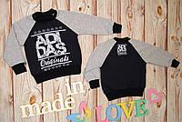 """Темно серый качественный реглан """"AdiDas"""" для мальчика (86-92 см) 27П44"""