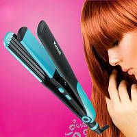 Kemei KM-2209 2 в 1 утюжок для завивки и выпрямления волос Синий и чёрный
