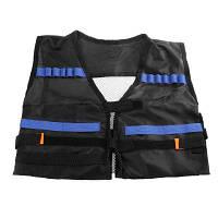 Дети Регулируемый тактический жилет с карманами для хранения Чёрный
