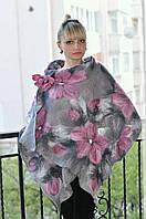 Модний палантин/шарф-снуд сріблясти металік з принтом LilyScarf
